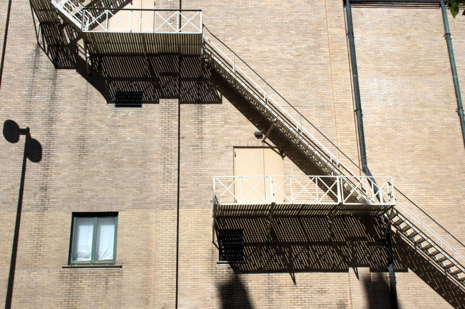 Bricks Stairs Shadows